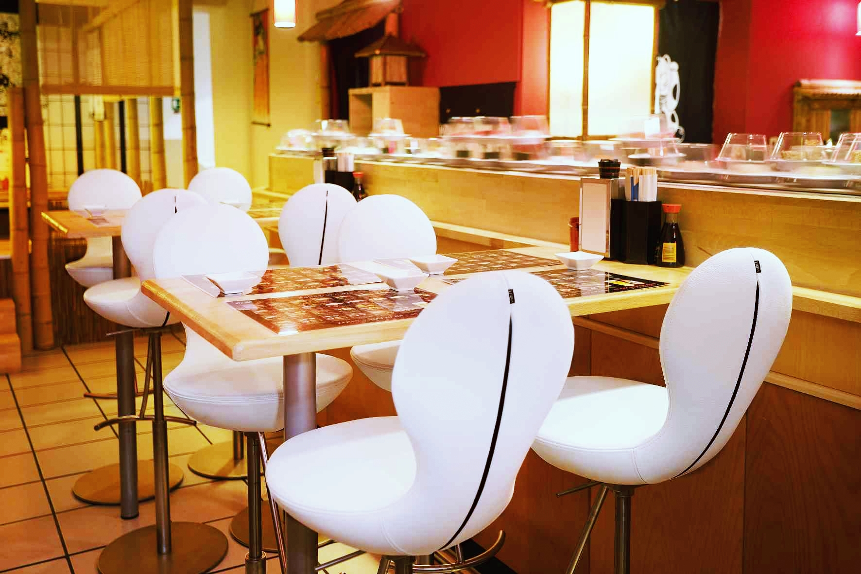 Locations the eight chairs in sushiou sushi bar